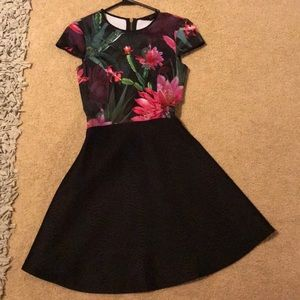 Ted Baker Size TB0 Floral Dress